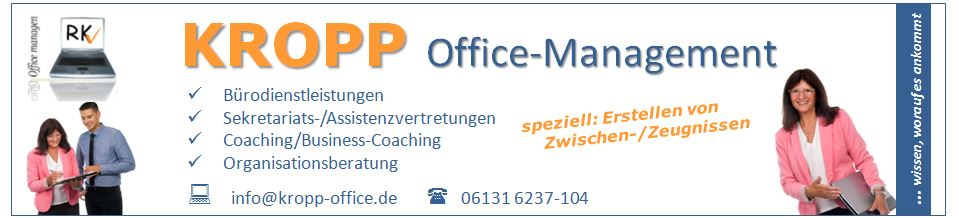 Büroservice KROPP Office-Management / Bürodienstleistungen